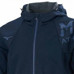 【MIZUNO】防風防潑水刷毛連帽外套32TE059414深丈青