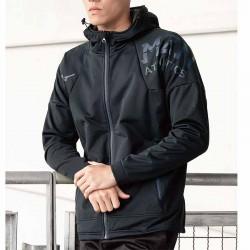 【MIZUNO】防風防潑水刷毛連帽外套32TE059409黑