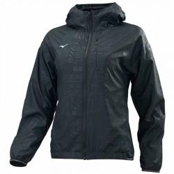 【MIZUNO】奈米鋁熱能反射超保暖女風衣外套32TE078209黑