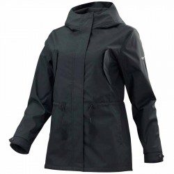 【MIZUNO】防潑水細刷毛連帽長版女外套32TE078309黑