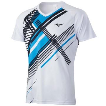 【MIZUNO】72TA050101白 親子羽球短袖T恤