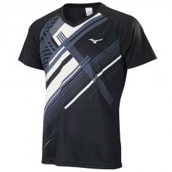 【MIZUNO】72TA050109黑 親子羽球短袖T恤
