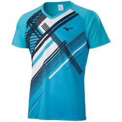 【MIZUNO】羽球短袖T恤親子款72TA050119天藍