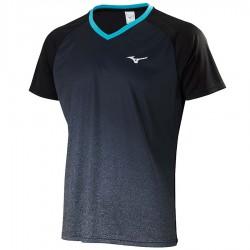 【MIZUNO】72TA050209黑 合身版型羽球T恤