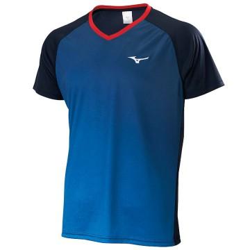 【MIZUNO】72TA050213靛藍 合身版型羽球T恤