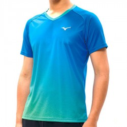 【MIZUNO】72TA050221藍 合身版型羽球T恤