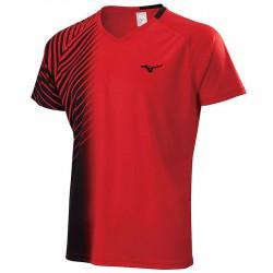 【MIZUNO】72TA050362紅黑 合身版型羽球T恤