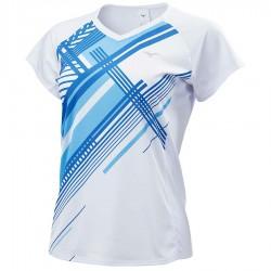 【MIZUNO】72TA070101白 女羽球短袖T恤