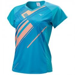 【MIZUNO】72TA070119天藍 女羽球短袖T恤