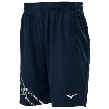 【MIZUNO】72TB0A1614深丈青 長版羽球針織短褲