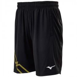 【MIZUNO】72TB0A1694黑黃 長版羽球針織短褲