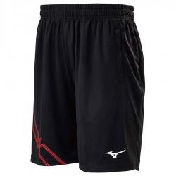 【MIZUNO】72TB0A1696黑紅 長版羽球針織短褲
