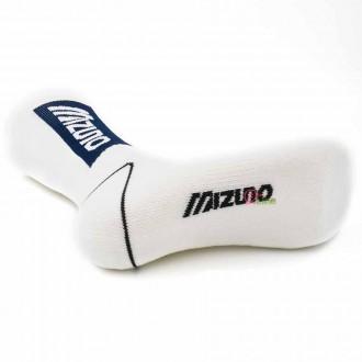 【MIZUNO】1906運動時尚男中筒襪D2TX060501Q白