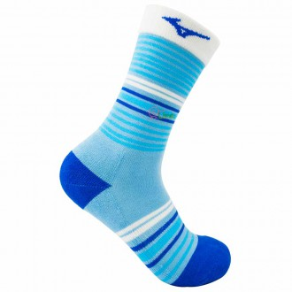 【MIZUNO】1906運動時尚女中筒襪D2TX970121Q粉青藍