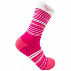 【MIZUNO】1906運動時尚女中筒襪D2TX970164Q粉紅紅