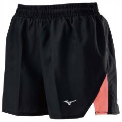 【MIZUNO】路跑&運動女短褲J2TB025196黑亮粉橘