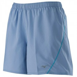 【MIZUNO】路跑&運動抗UV女短褲J2TB075421灰藍