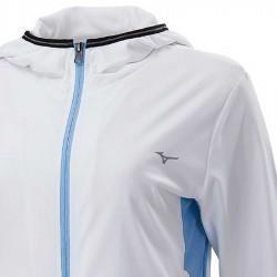 【MIZUNO】路跑&運動抗UV女款風衣J2TC022101白