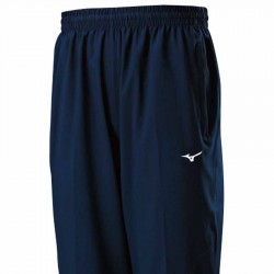 【MIZUNO】路跑&運動雙拉鍊風褲J2TD8A0313靛藍