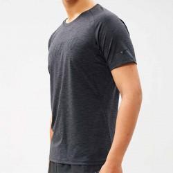 【MIZUNO】瑜珈&健身合身剪裁男短袖K2TA050109灰黑