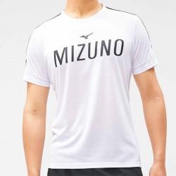 【MIZUNO】瑜珈&健身合身剪裁男短袖K2TA050201白