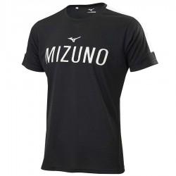【MIZUNO】瑜珈&健身合身剪裁男短袖K2TA050209黑
