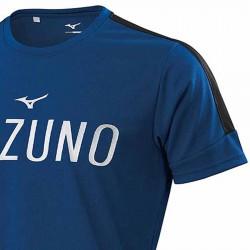 【MIZUNO】瑜珈&健身合身剪裁男短袖K2TA050215藏藍