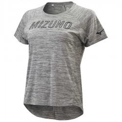【MIZUNO】瑜珈後擺加長短袖K2TA070206麻灰