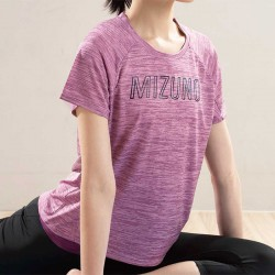 【MIZUNO】瑜珈後擺加長短袖K2TA070266玫瑰粉