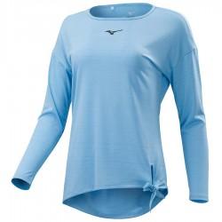 【MIZUNO】瑜珈綁帶長袖K2TA070521淺藍