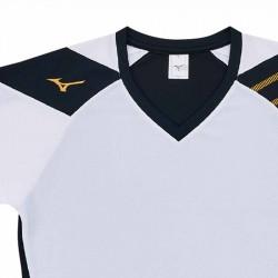 【MIZUNO】排球&運動短袖V2TA0G1601白黑