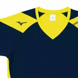 【MIZUNO】排球&運動短袖V2TA0G1614深丈青黃