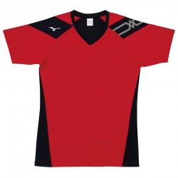 【MIZUNO】排球&運動短袖V2TA0G1662紅黑