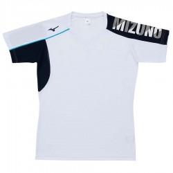 【MIZUNO】排球&運動短袖V2TA0G1701白靛藍