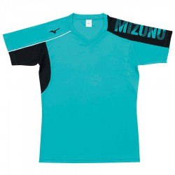 【MIZUNO】排球&運動短袖V2TA0G1737珊瑚綠