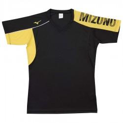 【MIZUNO】排球&運動短袖V2TA0G1794黑黃