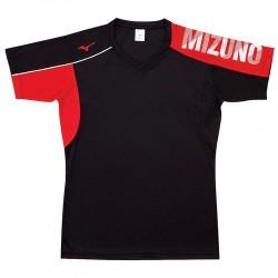 【MIZUNO】排球&運動短袖V2TA0G1796黑紅