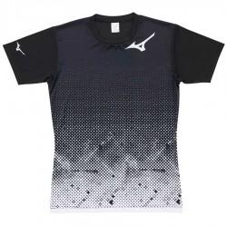 【MIZUNO】排球&運動短袖V2TA0G1801白黑