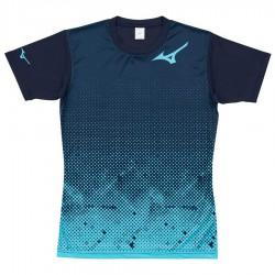 【MIZUNO】排球&運動短袖V2TA0G1819天藍靛