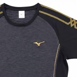 【MIZUNO】排球&運動短袖V2TA0G1999黑灰黑