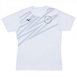 【MIZUNO】排球&運動短袖V2TA0G2001白