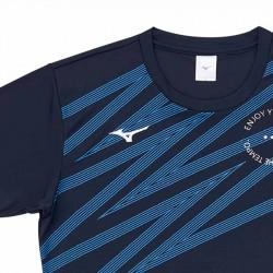 【MIZUNO】排球&運動短袖V2TA0G2013靛藍