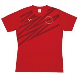 【MIZUNO】排球&運動短袖V2TA0G2062紅
