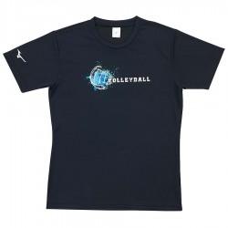 【MIZUNO】排球&運動短袖V2TA0G2109黑