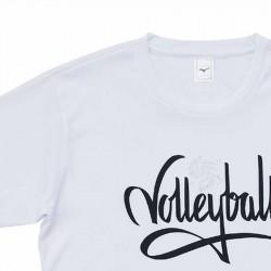 【MIZUNO】排球&運動短袖V2TA0G2201白