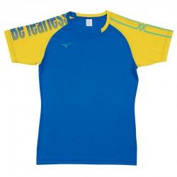 【MIZUNO】排球&運動短袖V2TA9G1721藍黃