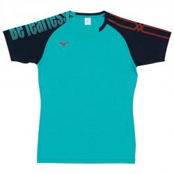 【MIZUNO】排球&運動短袖V2TA9G1737珊瑚綠靛藍
