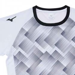 【MIZUNO】排球&運動短袖V2TA9G1801白黑