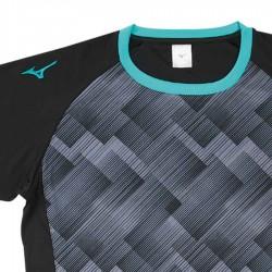 【MIZUNO】排球&運動短袖V2TA9G1809黑珊瑚綠