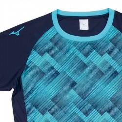 【MIZUNO】排球&運動短袖V2TA9G1813靛藍天藍